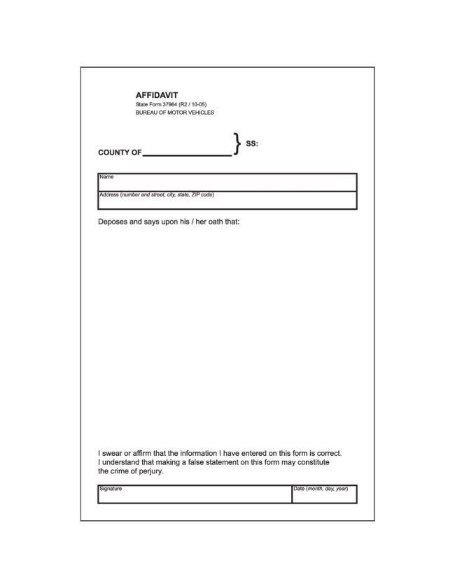 Free Download and Editable Affidavit Form Template Example with ...