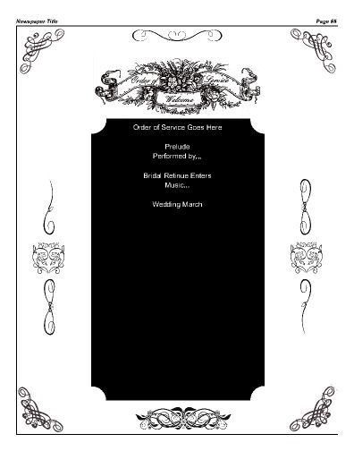 Order Of Service Template Free | Templates.csat.co