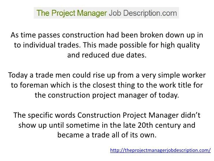 A Project Manager Job Description Youu0027ll Be Able To Understand!