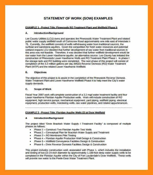 10+ statement of work format | actor resumed