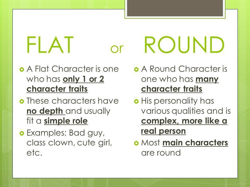 are-the-characters-flat-or-round | Hugh Fox III