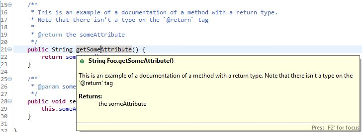 java - Editing Eclipse Javadoc ${tags} Variable - Stack Overflow