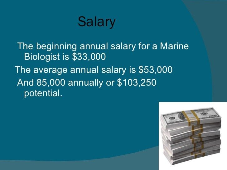 The career of marine biology pp 2003