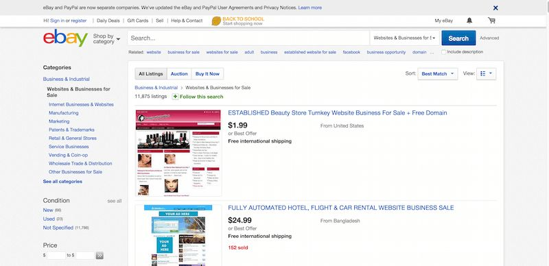 5 Marketplaces for Buying & Selling Websites |
