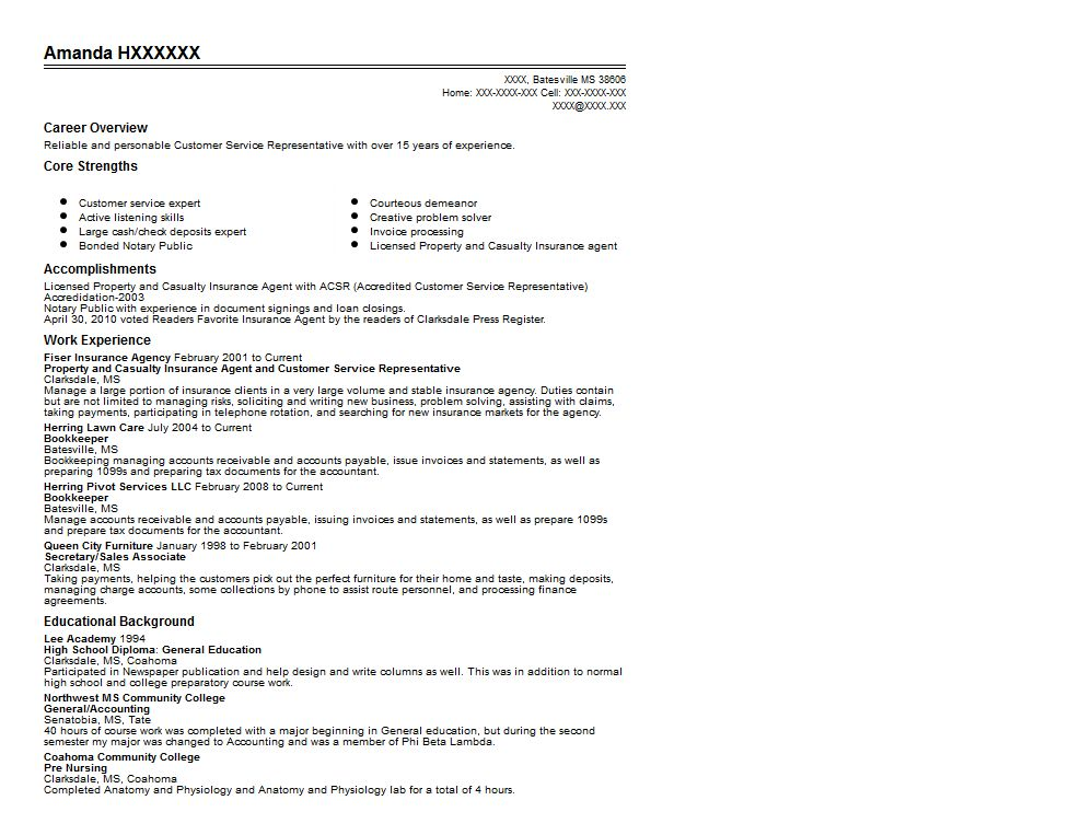 Property and Casualty Insurance Agent Resume Sample ...