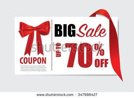 Price Tag Sale Coupon Voucher Vintage Stock Vector 211374679 ...