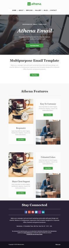 Althea Newsletter Email template is the Best Newsletter template ...