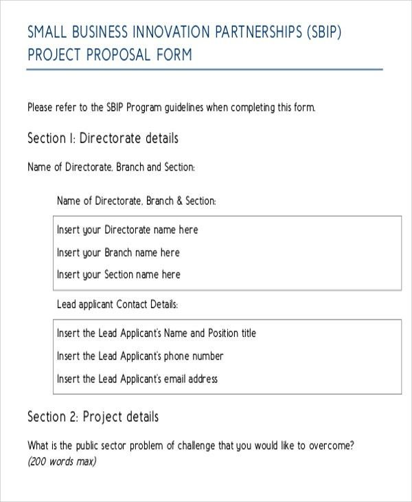 Small Business Proposal Templates - 10 Free Word, PDF Format ...
