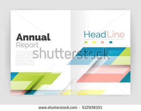 Cover Design Brochure Flyer Annual Report Stock Vector 402050281 ...