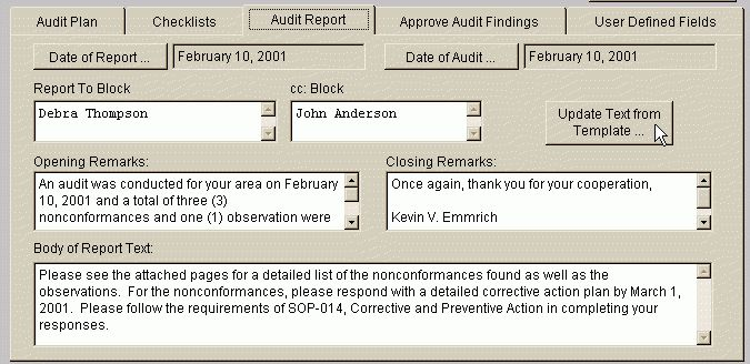 Document Audit Findings