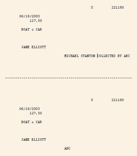Treasurer's Receipt Sample