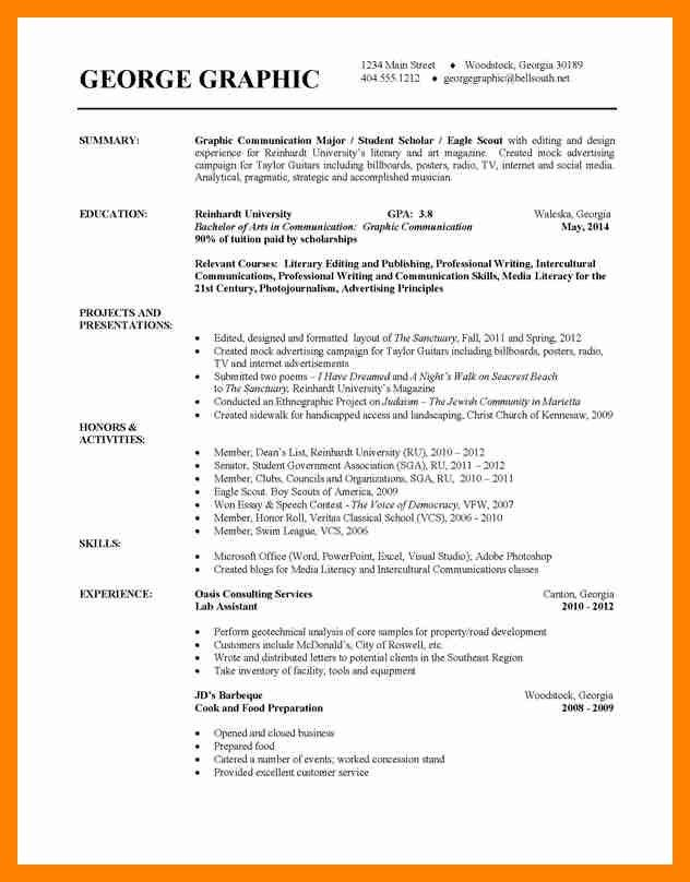 Resume Examples For College Students. college resumes college ...