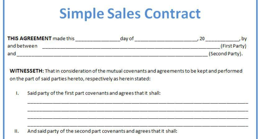 Sales Contract Template Layout Format - Kelsey Bass Ranch | #14407