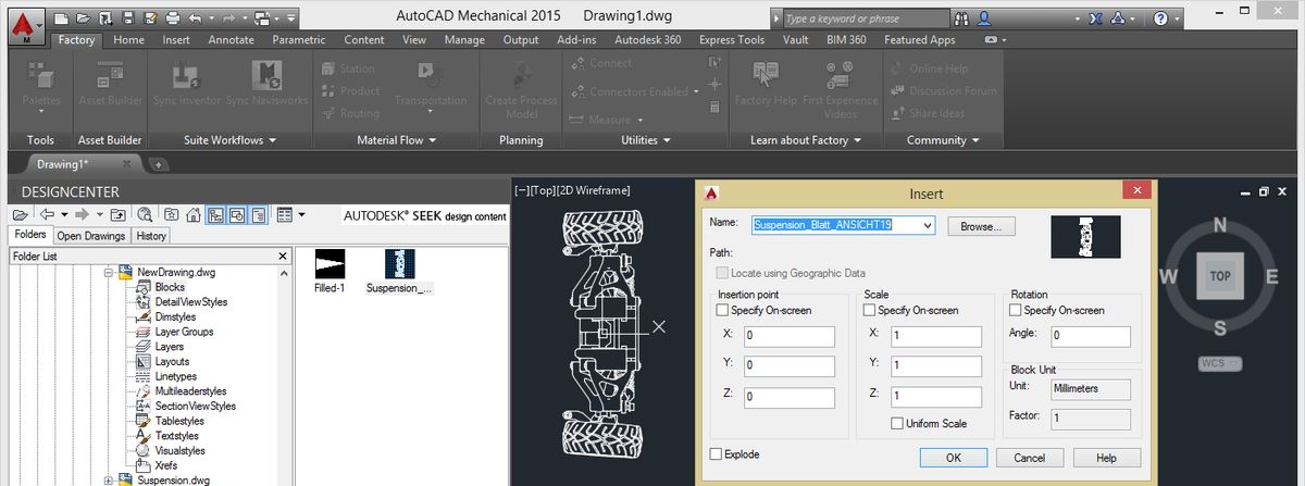 AutoCAD blocks are not accessible in migrated drawing (Inventor ...