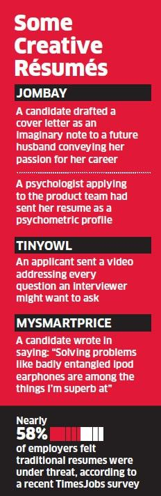 From creative resumes to YouTube videos, job seekers knock ...