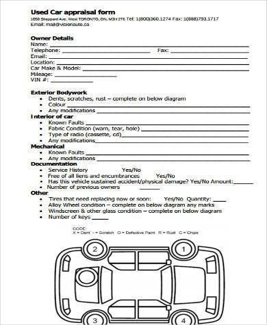 Free Appraisal Form Samples - 9+ Free Documents in Word, PDF