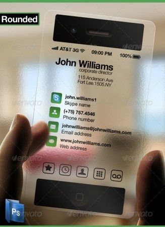 MiPhone Transparent Business Card Template | Business Card Critic ...