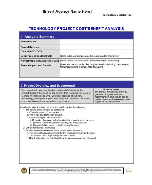 Cost Benefit Analysis Template - 7+ Free Word, PDF Documents ...