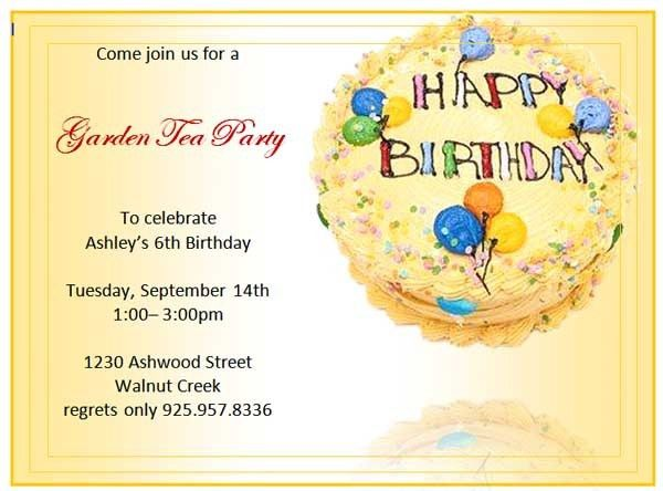 Birthday Invitation Templates - Microsoft Word Templates