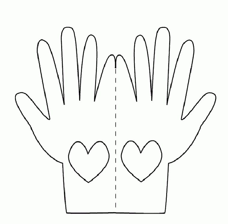 Praying Hands Printable Template | Hands Love Card Template to ...