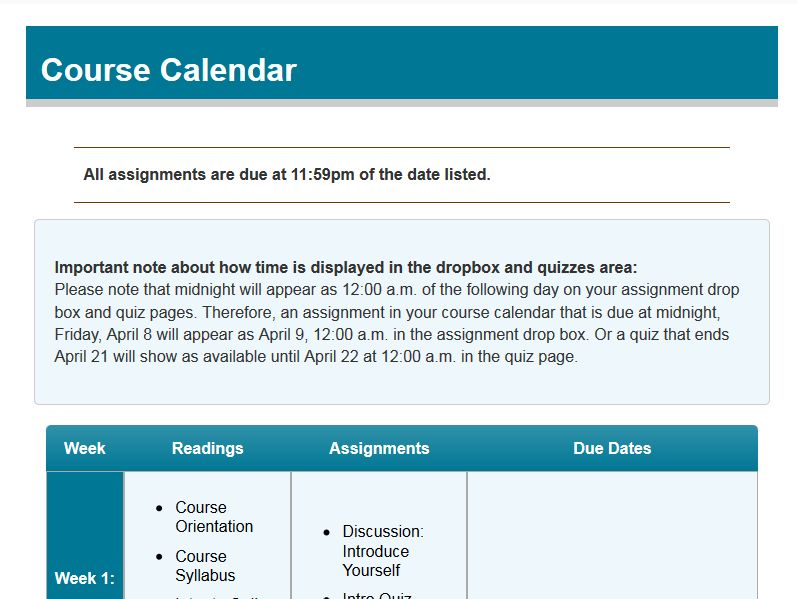 Use the D2L calendar for your students' sake | Distance Education ...