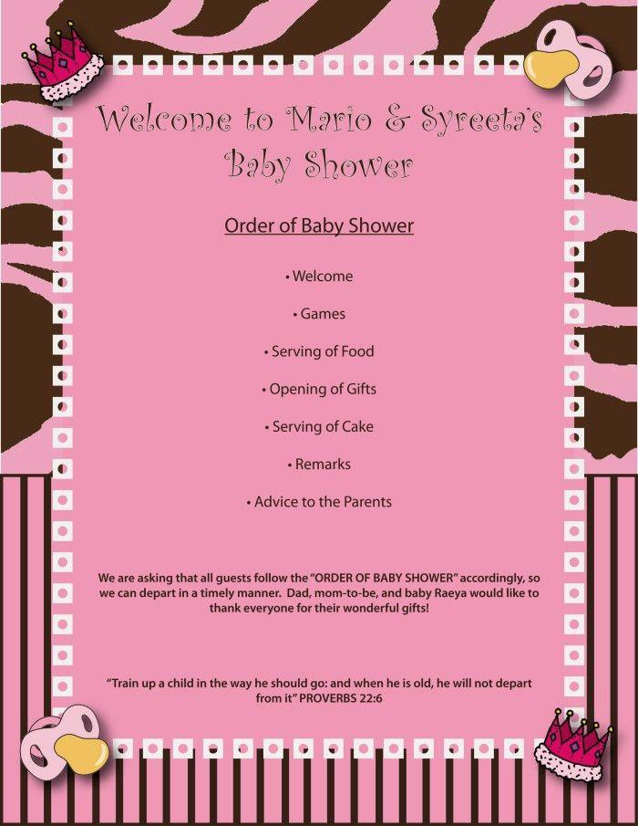 Baby Shower Program Template #2576
