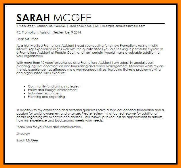 example job promotion cover letter cover letter templates in cover ...