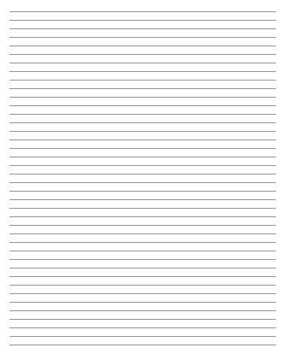 College Ruled Paper Template. Printable Paper - Isometric ...