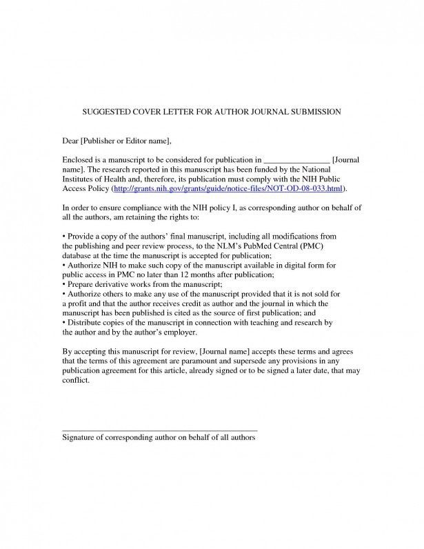 JBCB Cover letter for scientific journal submission uncategorized ...