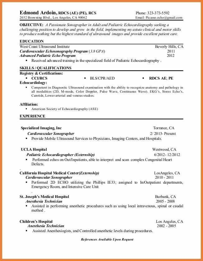 cardiac sonographer cover letter cardiac sonographer cover letter