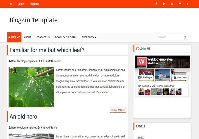BlogZin Responsive Blogger Template 2014 Free Blogger Templates