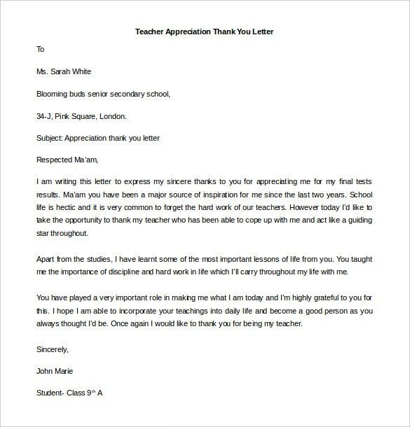 Free Thank You Letter Templates – 34+ Free Word, PDF Documents ...