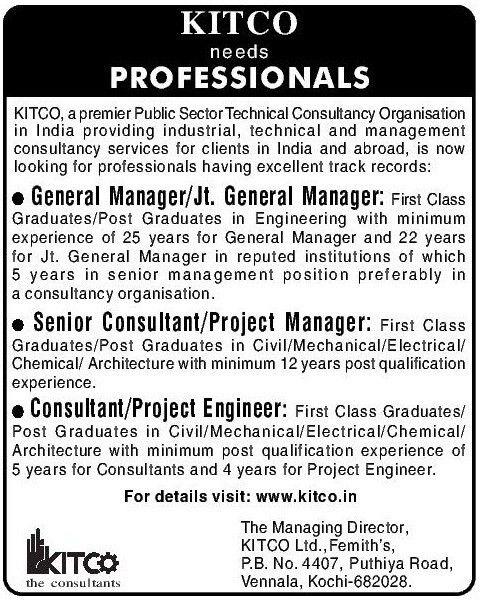 Job - General Manager - Cochin / Kochi / Ernakulam - Engineering ...
