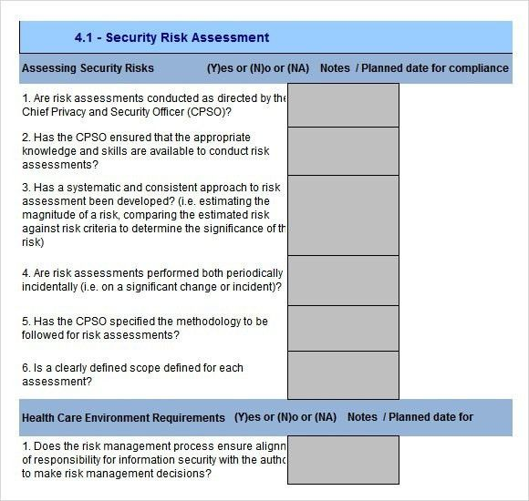 Information Security Risk Assessment Template | Template Business