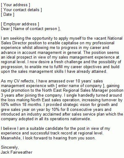 Sample Internal Position Cover Letter