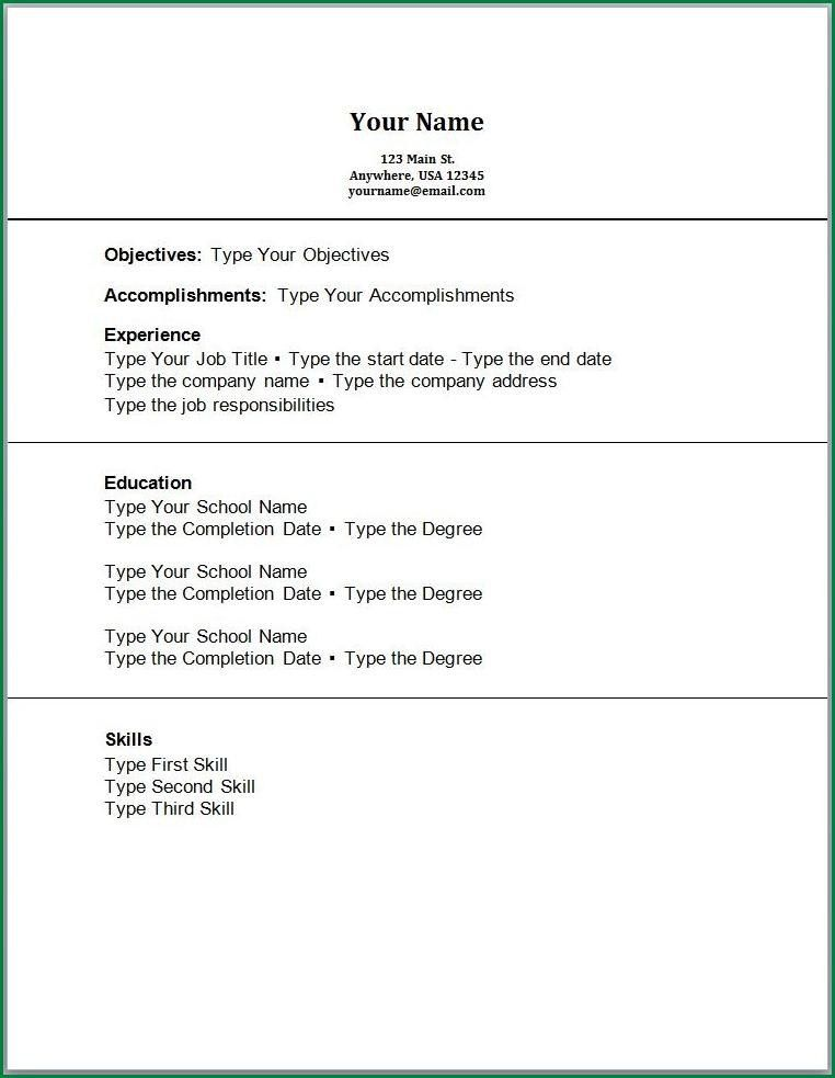 Work Experience Resume Template, resume examples with no work ...