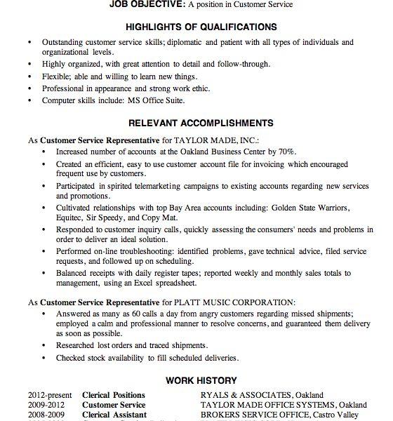 Neat Design Customer Service Sample Resume 6 Resume Sample ...