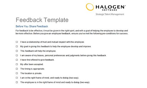 Feedback Templates 5 Hr Feedback Forms Hr Templates Free Premium – Degree Templates