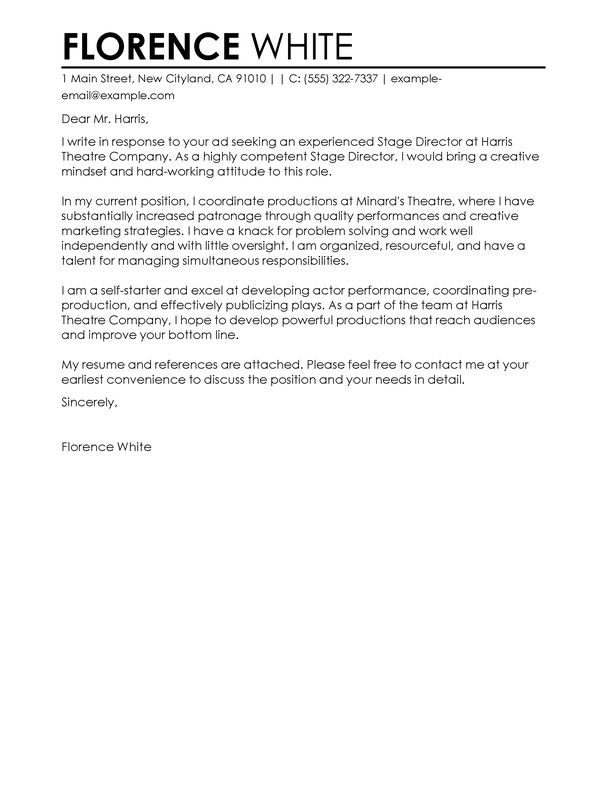 Best Medical Cover Letter Examples | LiveCareer