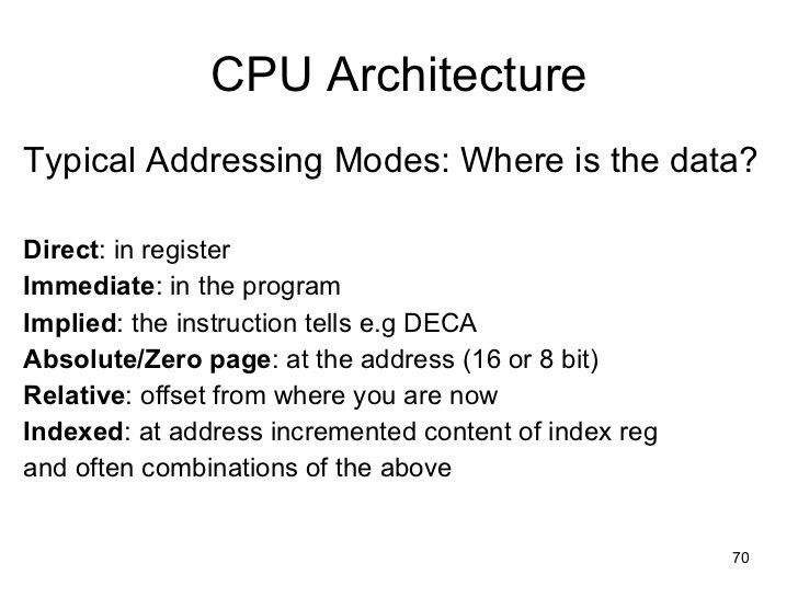 History of CPU Architecture