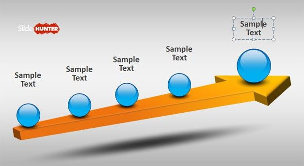 Free 3D Timeline Template for PowerPoint with Arrow - Free ...