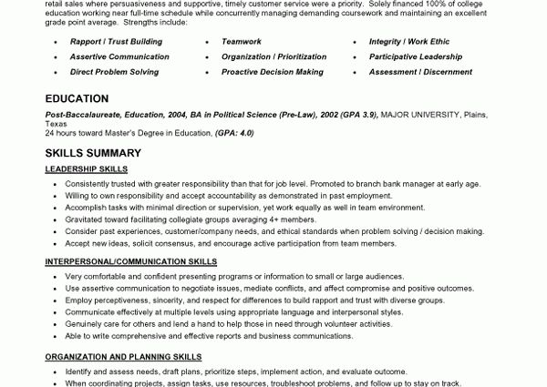 functional resume styles