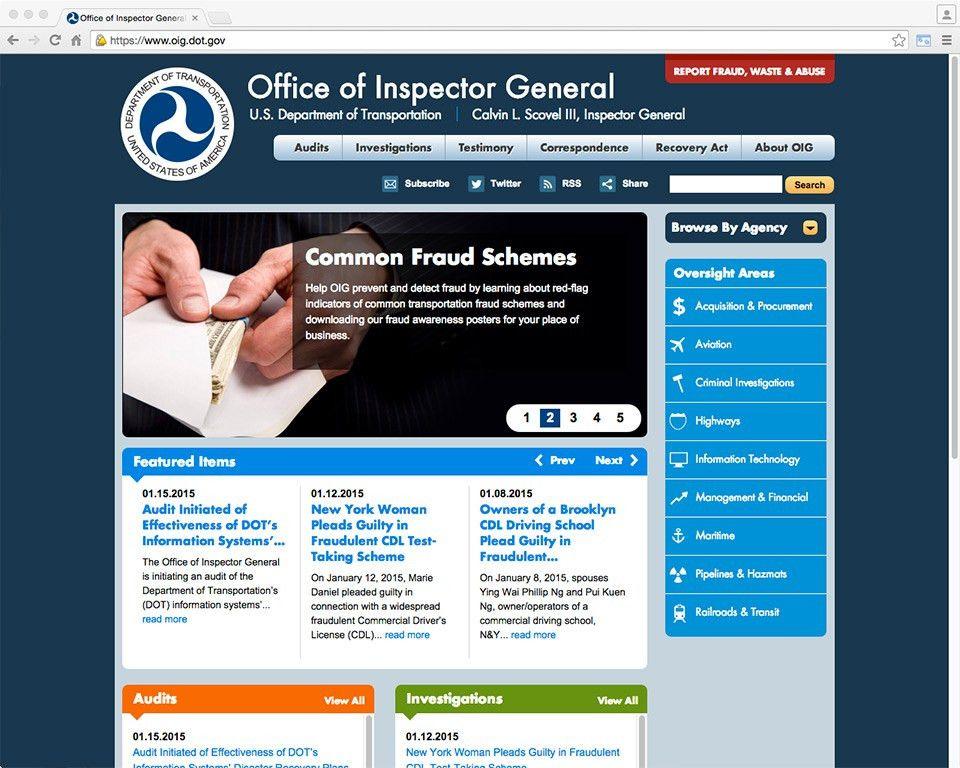 U.S. Department of Transportation of Inspector General (DOT OIG ...