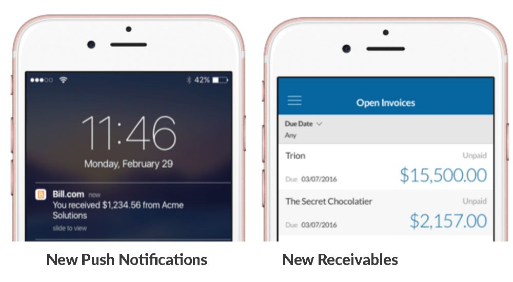Bill.com Adds Mobile Receivables to Manage Invoices on Phones and ...