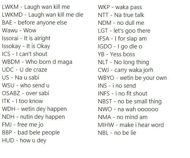 What mbok and other Nigerian slangs mean - OneNigerianBritico
