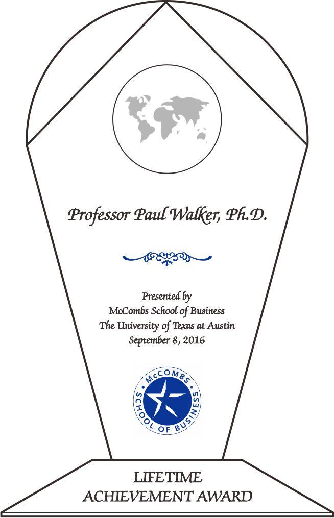 Professor Lifetime Recognition Award (#062-2) | Wording Ideas ...