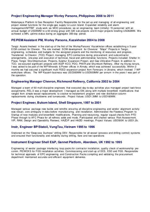 Andrew J Kelly - PEM - Cover Letter & CV