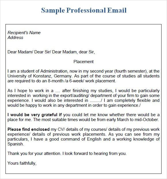 Business Letter Email Template | The Best Letter Sample