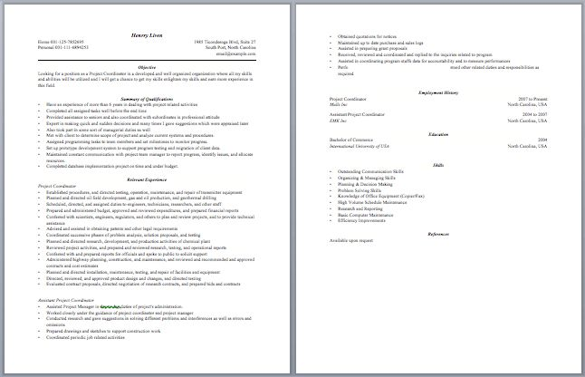 project coordinator resume samples project coordinator resume
