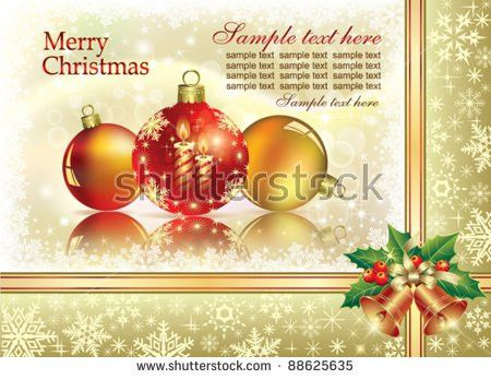 Christmas Background Garland Eps10 Stock Vector 67555291 ...